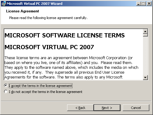 virtual pc 2007 software free